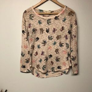Ginger G Elephant Icon Long Sleeve Top